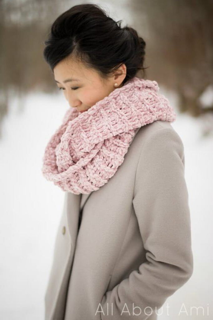 Velvet Ribbed cowl by all about ami