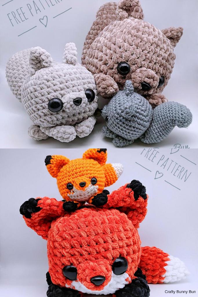 Esquilos e Raposas by Crafty Bunny Bun