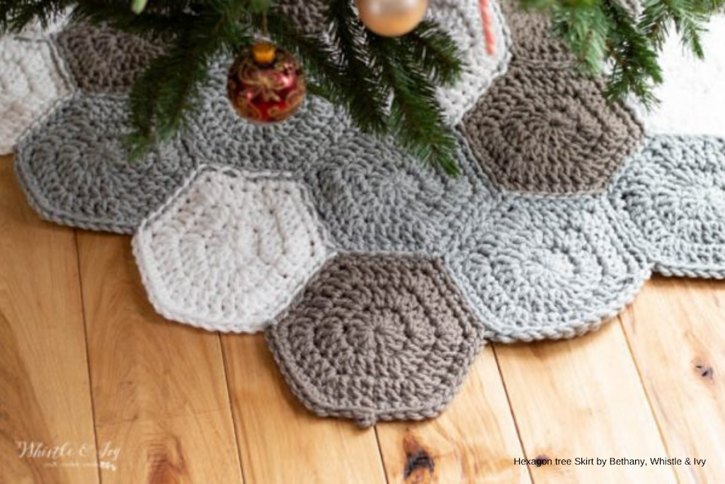 whistleandivy - crochet-hexagon-tree-skirt