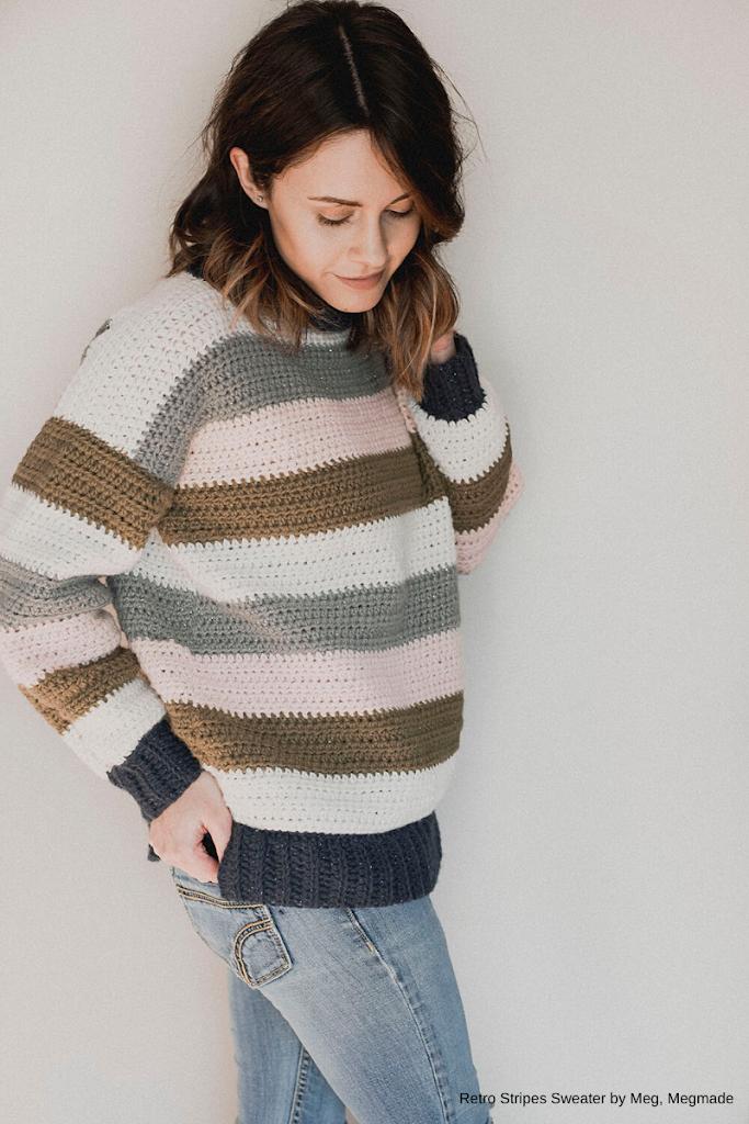 Tendências de crochet, inverno -  Sweater de Meg, Megmade