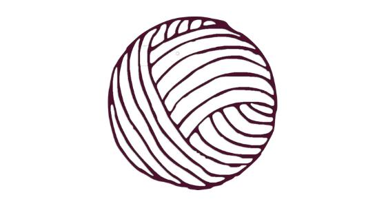 Bola de lã roxa